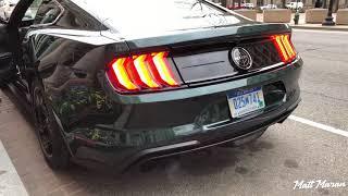 2019 Mustang Bullitt Start Up, Rev and Drive Away