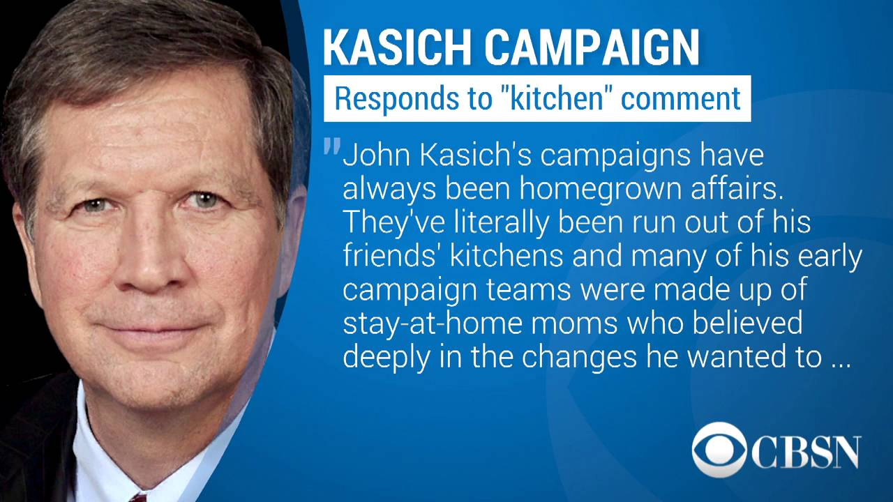 John Kasich Called Out For Women In The Kitchen Comment - YouTube