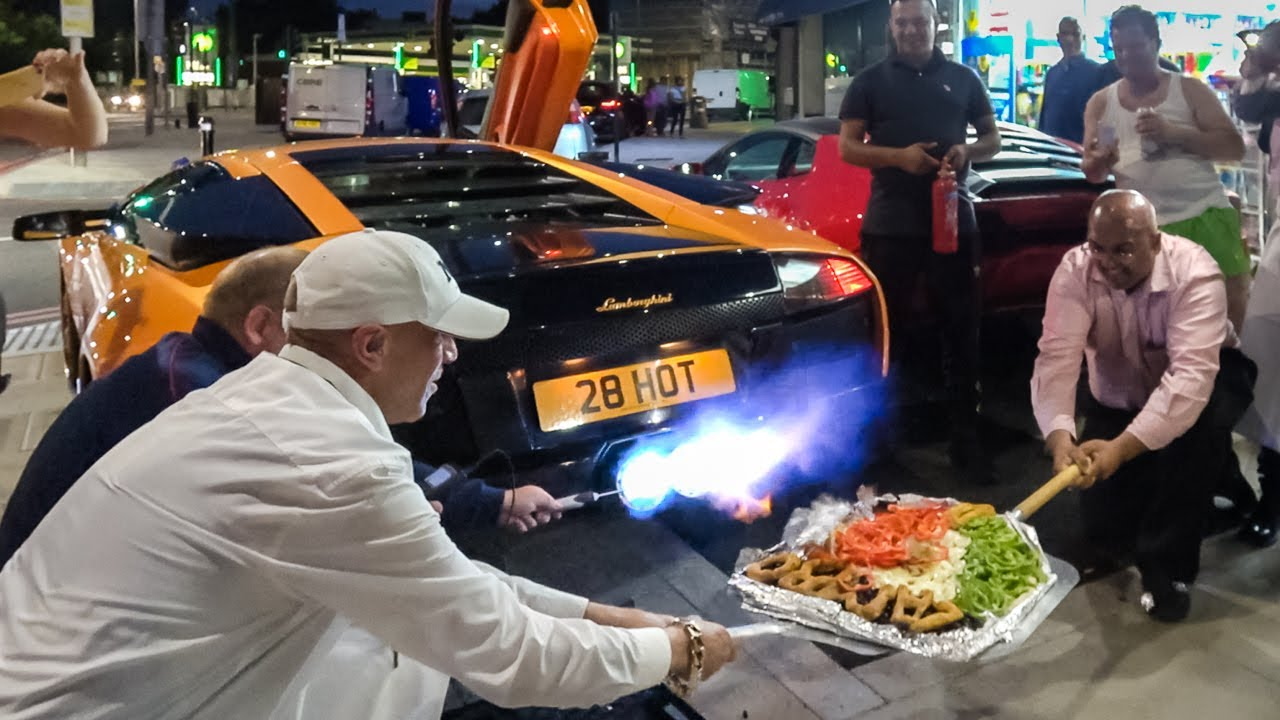 Lamborghini Cooks Pizza with a Flamethrower Exhaust LOL