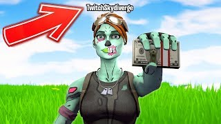 I put Twitch in my Fortnite name to see if I get any donations... (IT WORKED)