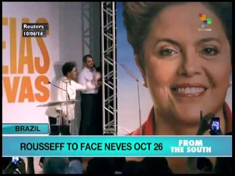 Brazil's Rousseff to face Neves in October 26 runoff