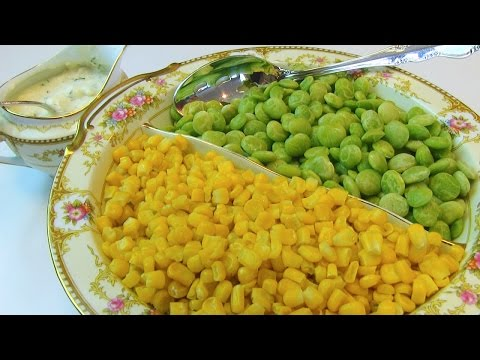 Betty's Lima Beans and Corn Succotash with Cream Cheese Sauce