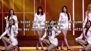 MY Top 15 Favourite Unit G Performances