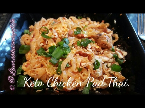 Keto Chicken Pad Thai receipe - yummy LCHF dinner healthy pad thai