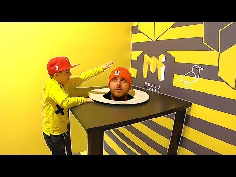 Timko visits Childrens Museum of Illusions with Papa