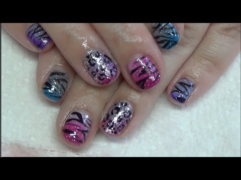 Color Changing Animal Print Nails