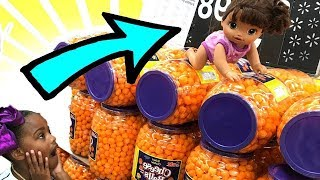 Baby Doll Goes Shopping! Pretend Play Toy Food