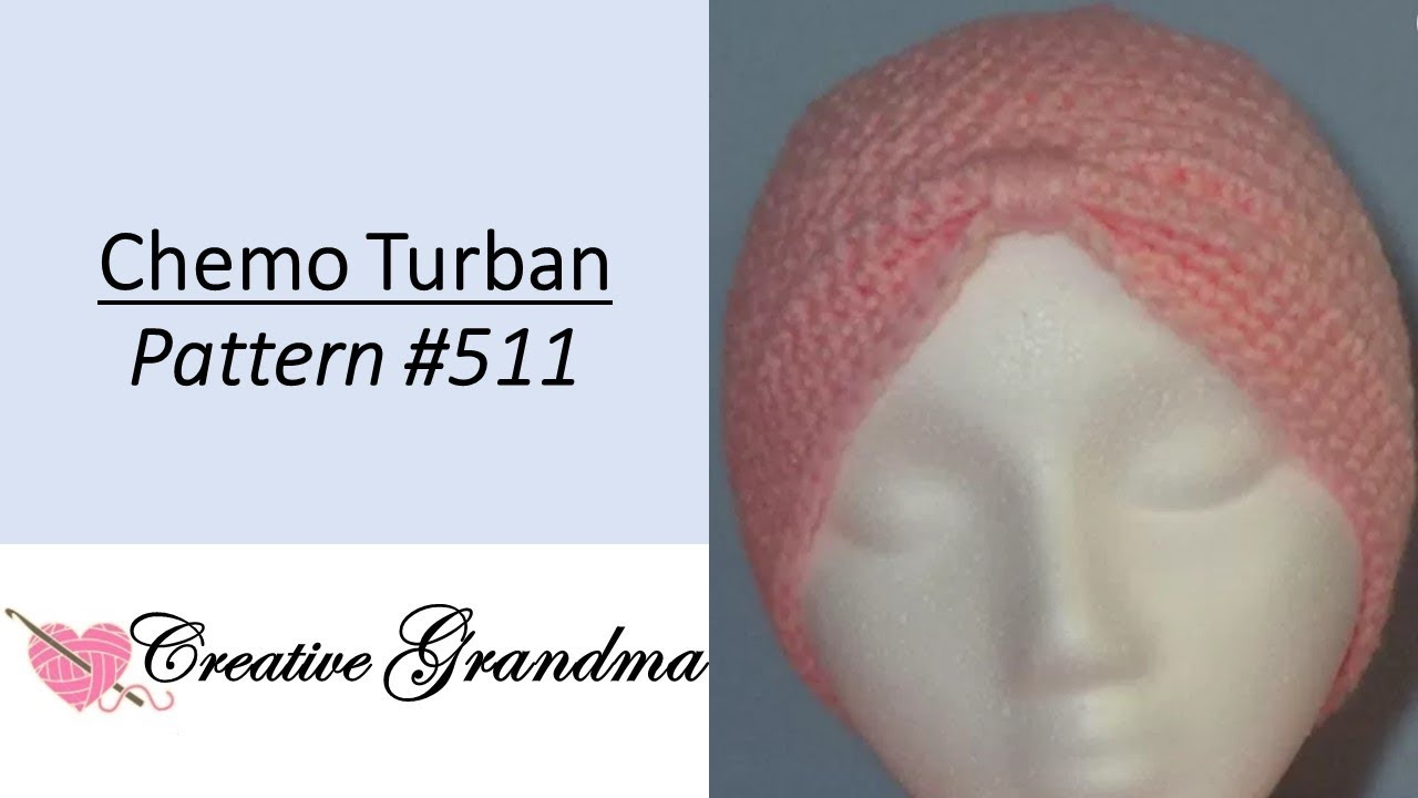 October Breast Cancer Awareness Crochet Chemo Turban   511 FREE PATTERN 27c69b3b03f