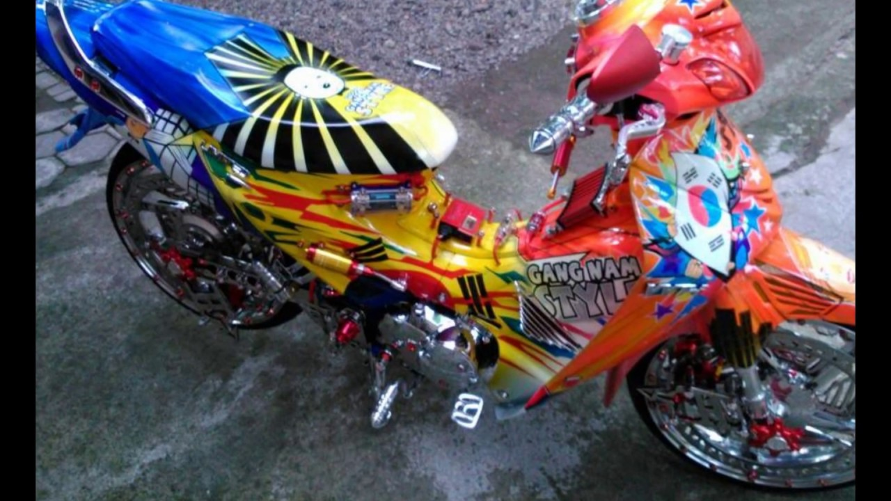 Cah Gagah Video Modifikasi Motor Honda Karisma Airbrush Velg