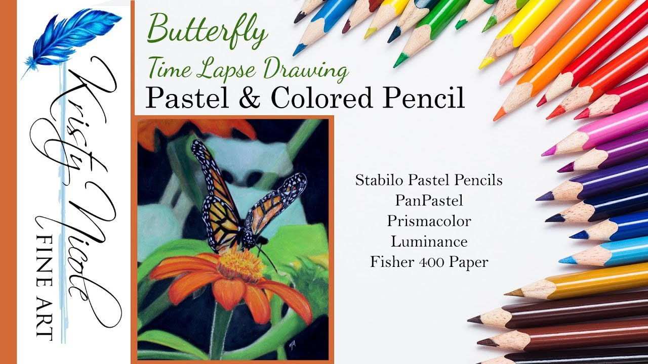 fisher 400 art paper wiring diagram for motorized bicycle time lapse drawing of butterfly in pastel and colored pencil on