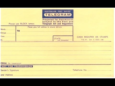 How Telegrams Were Sent in Australia