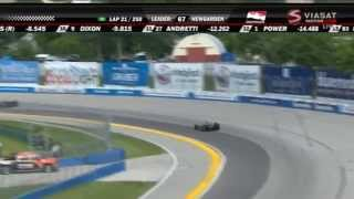 Indycar 2015. Round 12. Milwaukee. Wisconsin 250. Race [Part 1/2]