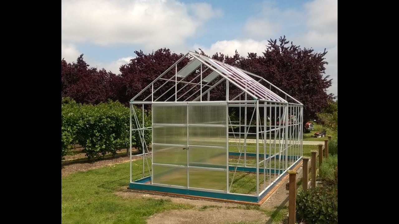 Two 10 X 12 Harbor Freight Greenhouses As One Structure