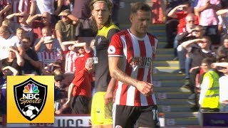 Billy Sharp sent off for leg kick against Southampton | Premier League | NBC Sports