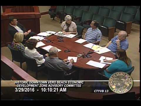 The City of Vero Beach HISTORIC DOWNTOWN ECONOMIC DEVELOPMENT ZONE  3/29/2016
