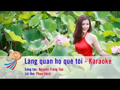 Làng quan họ quê tôi - Karaoke beat chuẩn - Song ca Nam Nữ