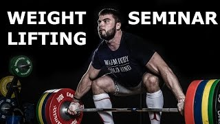 WEIGHTLIFTING seminar in ROTTERDAM / A.TOROKHTIY