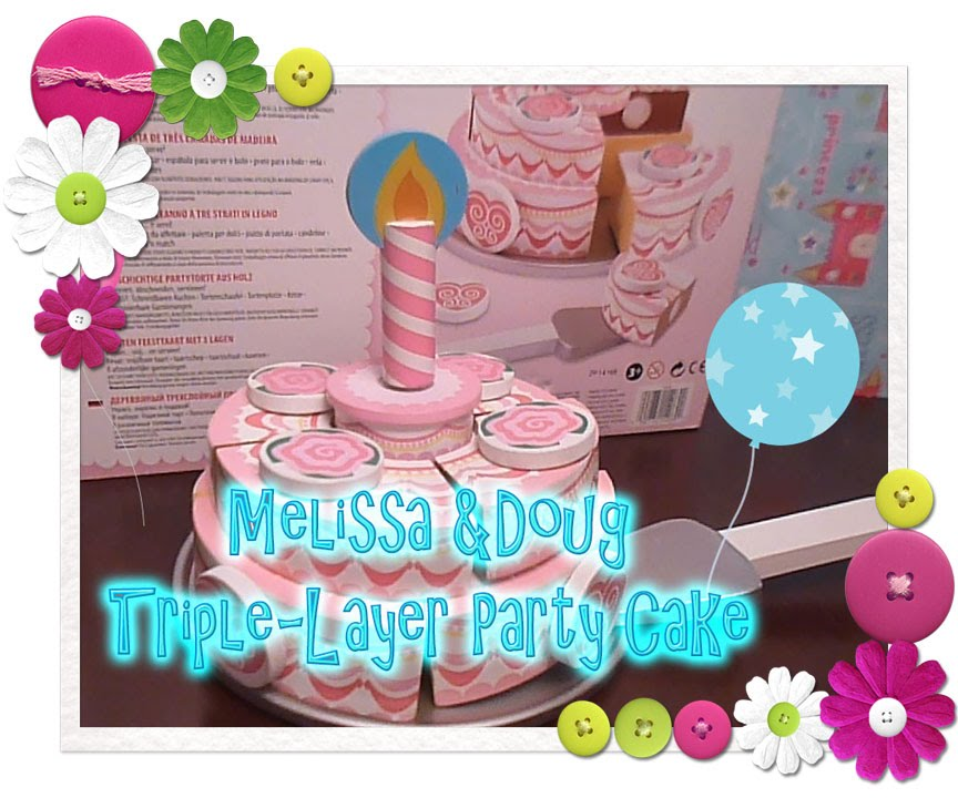 Melissa Doug Triple Layer Party Cake 2 Layers Of Sweet Yum Yums
