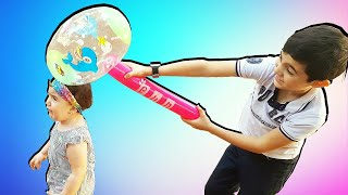 Super Celina and Hasoun OutDoor with Duck toys - سوبر سيلينا وحسونة العاب للاطفال