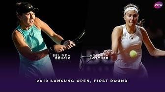 Belinda Bencic vs. Antonia Lottner | 2019 Samsung Open First Round | WTA Highlights