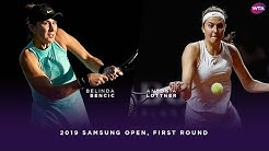 Belinda Bencic vs. Antonia Lottner | 2019 Samsung Open First Round | WTA Highlights