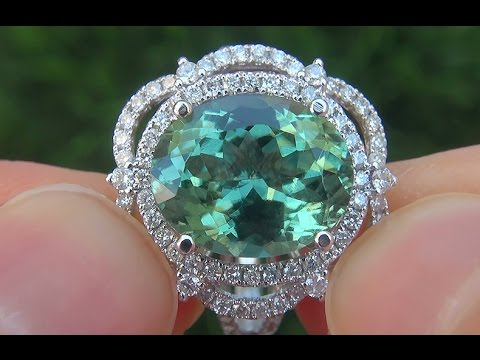 green diamond cut pear img tourmaline ring rings stone engagement