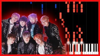 Blood Sweat Tears 피 땀 눈물 BTS Piano Tutorial Synthesia ATs Magic Shop