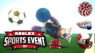 HOW TO GET ALL SPORTS ITEMS IN... Roblox Sports Event! (Stop starting on Weekdays...)