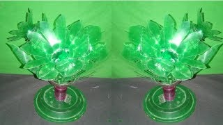 How to make make Awesome Sun flowers vase making craft water bottle recycle flower