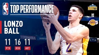 Lonzo Ball Records Another Triple-Double and Leads Lakers to Victory | November 19, 2017