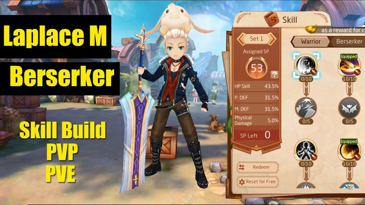 Laplace M - My Berserker Skill Build PVP and PVE - Video - ViLOOK