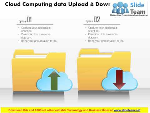 0115 cloud computing data upload and download icons ppt slide