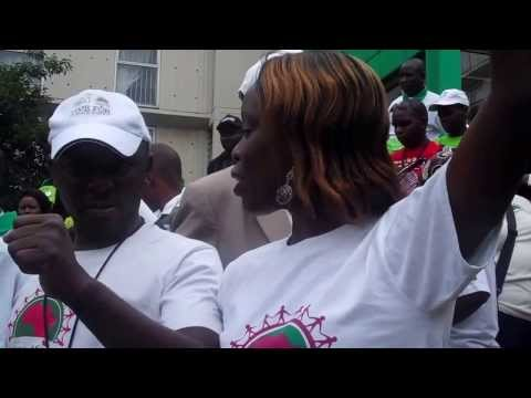 2011 Trans African Caravan Prepares to March in Durban UN CLIMATE CHANGE Protests
