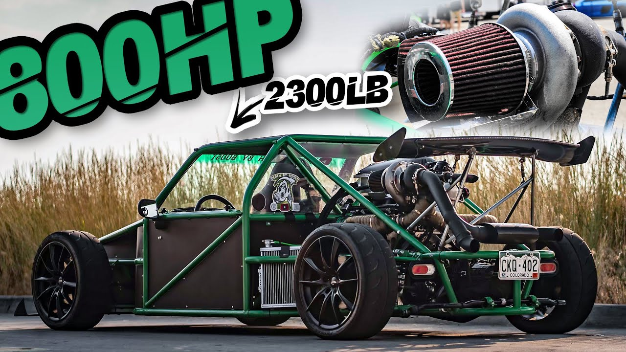 800HP Street-Legal Turbo Go-Kart?! 2300LB Weapon Hand Built From Scratch (ROWDY Highway Pulls)