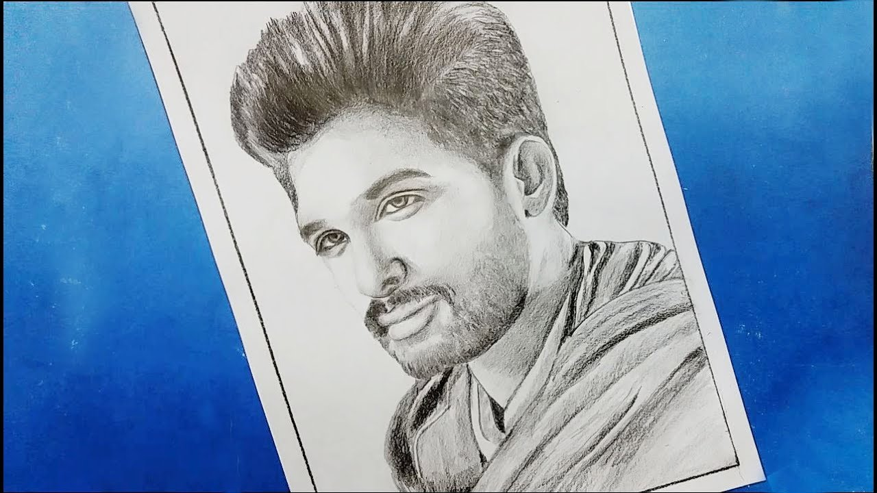 How To Drawing Allu Arjun Step By Step Youtube