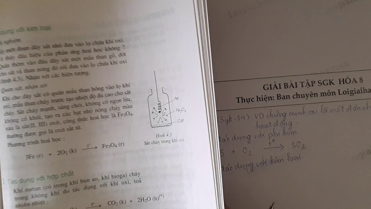 Giải bài 2 trang 84 SGK Hóa học 8