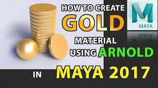 Wie erstelle Gold-Material Mit Arnold AI Standard in der MAYA-2017