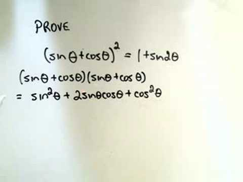 Proving Some Random Trigonometric Identities Youtube