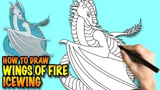 How to draw Icewing - Wings of Fire - Easy step-by-step drawing lessons for kids