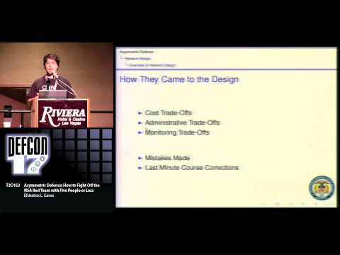 DEFCON 17: Asymmetric Defense: How to Fight Off the NSA Red Team with Five People or Less