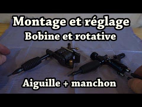 Tuto Tatouage - Montage Et Reglage Machine Bobine Et Rotative, Aiguille Et Manchon