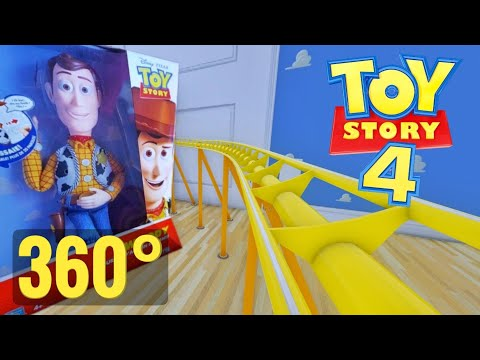 [360 VR video] Disney Pixar Toy Story 4 Roller Coaster 360° Google Daydream PSVR