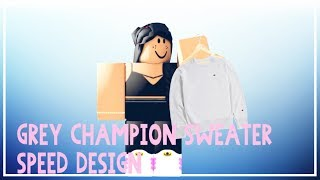 Grey Champion Sweater Roblox Speed Design (Boy) (For Sale)