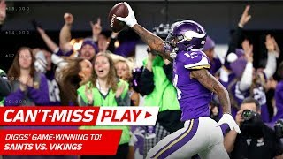 Stefon Diggs Makes Miracle TD Catch on Last Play, Vikings Win! 🦄 | Can