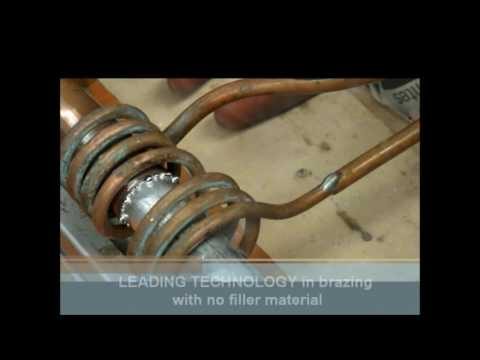 Induction Brazing Copper to Aluminum Tubing with No Filler Metal