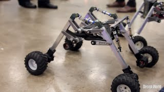 Mobile robots use articulated chassis design for teaching mechatronics