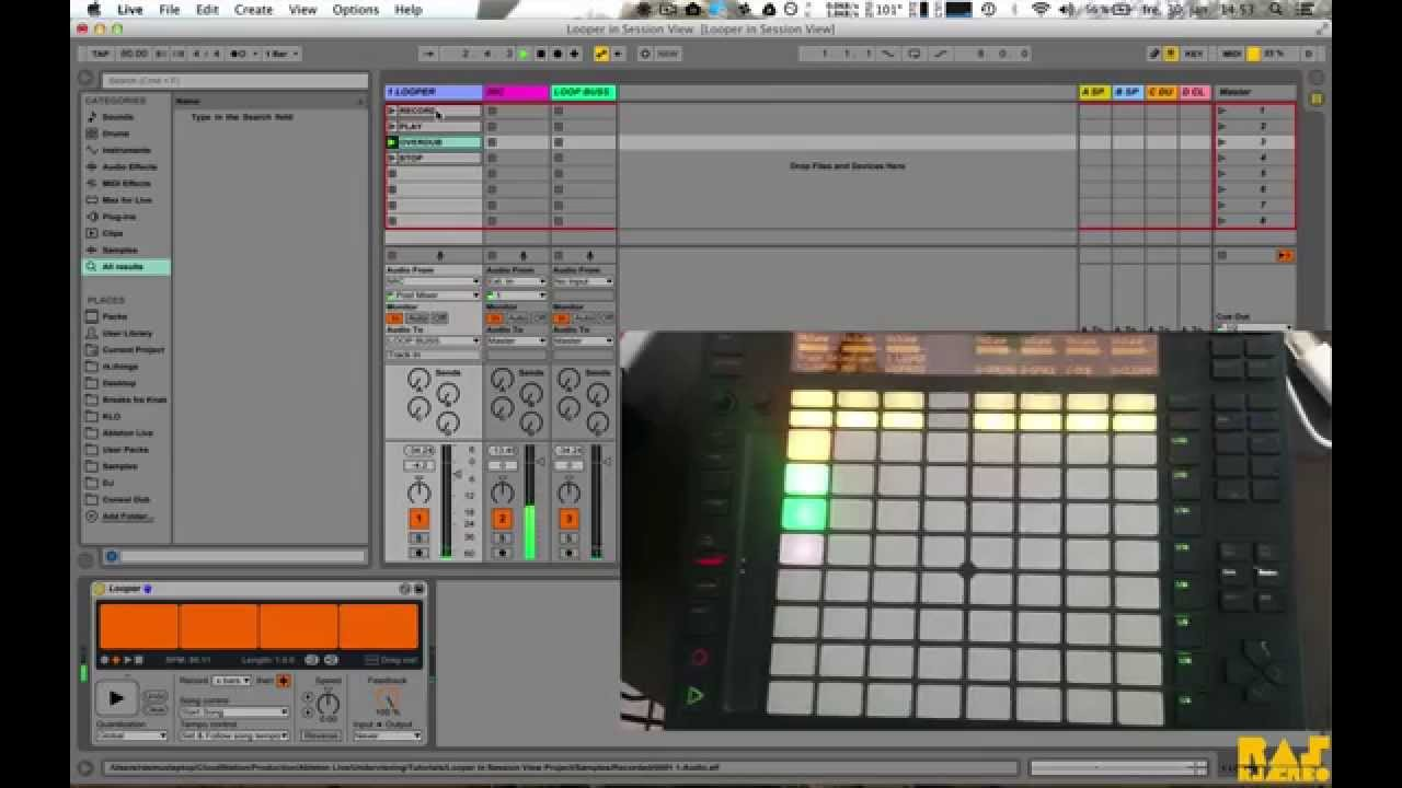 how to get into live session view in ableton
