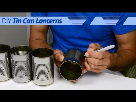 How-To Create Your Own DIY Tin Can Winter Lanterns