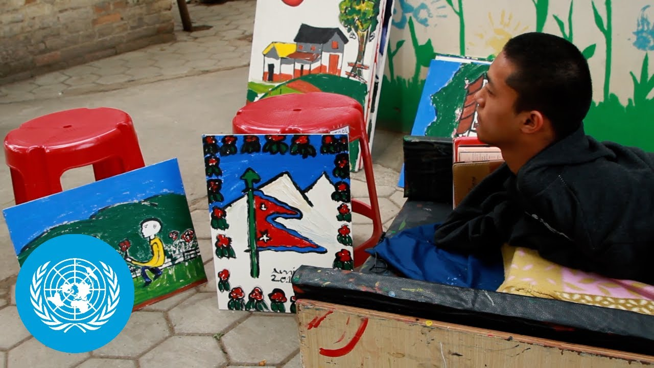 Nepal: Amir, a Young Artist Born with a Disability (Amir Tamang)
