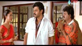 Raja Movie Scenes - Raja Release From Anjali House - Venkatesh, Soundarya, Sudhakar
